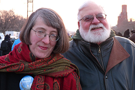 UT professors Barbara Floyd and Dr. Andy Jorgensen posed for a photo during the inauguration.