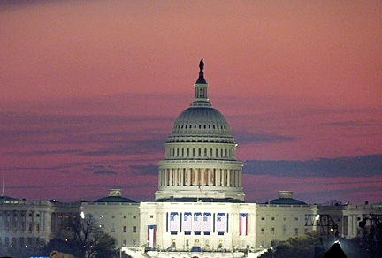 This shot of the Capitol at dawn on inauguration day was taken by Bill Little, Barbara Floyd's husband.