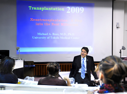 Dr. Michael Rees, associate professor of urology and medical director of the Human Donation Science Program, talked about transplant research during January's Toledo Starz program on Health Science Campus.