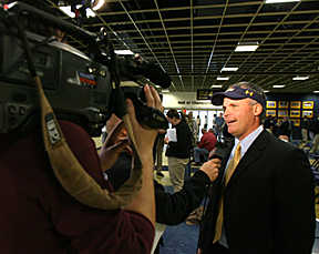 Fans will have a chance to meet Head Football Coach Tim Beckman, shown here being interviewed after accepting the UT job.