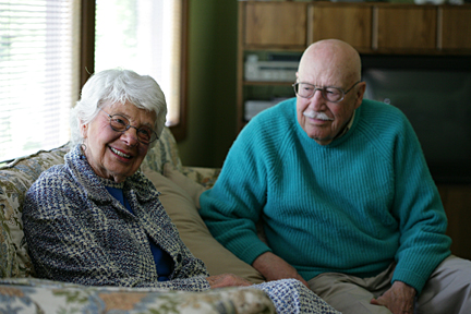 Betty Smith and her husband, Hoyt Ensign