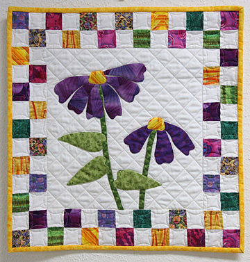This is one of 12 quilts on display in the Glass City Quilt Commission's exhibit in UT's Catharine S. Eberly Center for Women.