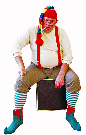 Dave DeChristopher, UT instructor of theatre, as Crumpet the Elf