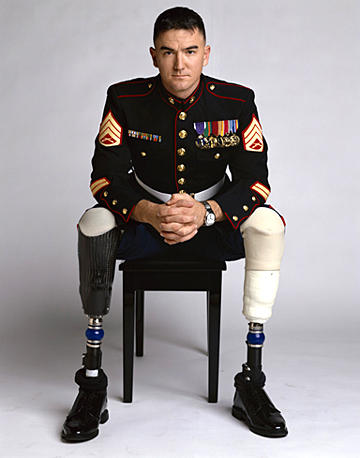 Marine Staff Sgt. John Jones is one of the soldiers interviewed in the documentary.