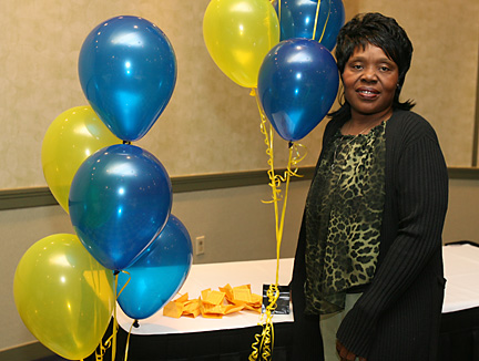 Hattie King in Food and Nutrition Services has never called in sick during her nine years at UT Medical Center.