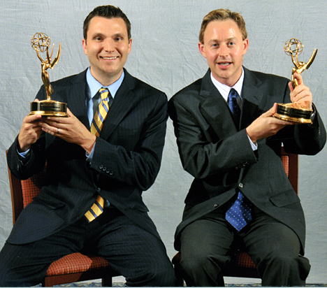 WGTE Executive Producer Darren LaShelle, left, and Segment Producer Darin Hohman won Emmy Awards for
