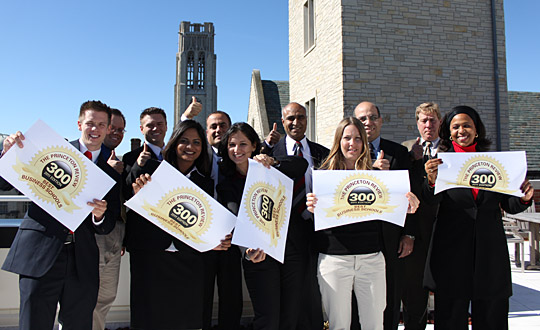 "UT College of Business and Innovation faculty, staff, students and graduates were on top of the world — and on top of the Savage & Associates Complex for Business Learning and Engagement — celebrating the news that the college again was included in The Princeton Review's book, ""The Best 300 Business Schools."""