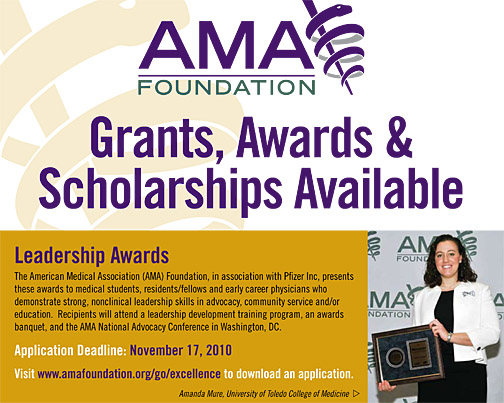 UT medical student Amanda Mure is featured on a national poster distributed by the American Medical Association.
