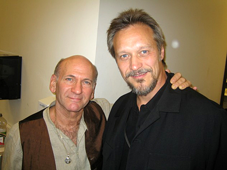 Dave Liebman, left, a recipient of the 2011 National Endowment for the Arts Jazz Masters Award, posed for a photo with Gunnar Mossblad.