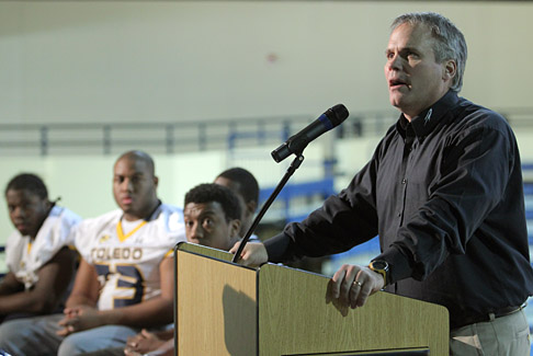 Head Football Coach Tim Beckman last week announced Toledo's 2011 recruiting class, which is rated No. 1 in the Mid-American Conference by Rivals.com and Scout.com.