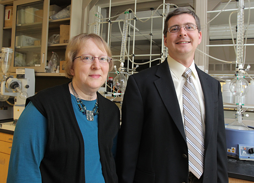 Dr. Katherine Wall and Dr. Steve Sucheck are combining their specialties to investigate vaccines to fight cancer.