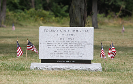 A memorial for those in the Toledo State Hospital Cemetery was dedicated last year.