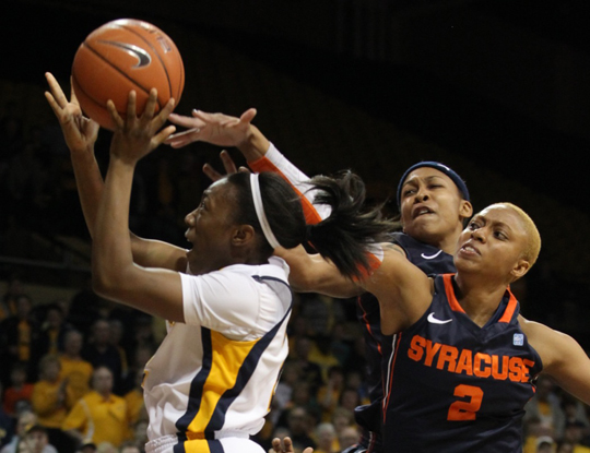 Sophomore Andola Dortch led the Rockets with 23 points as Toledo fell to Syracuse, 74-73, in overtime.