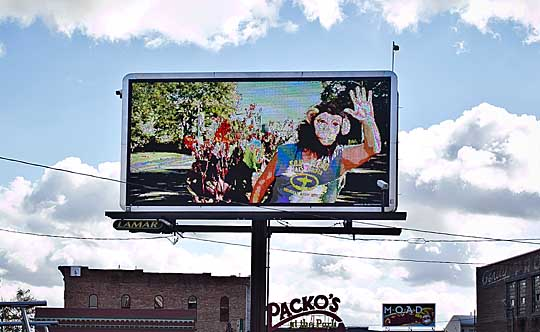 Artwork by April VanSlambrouck and other UT students was featured on digital billboards in Toledo last fall.