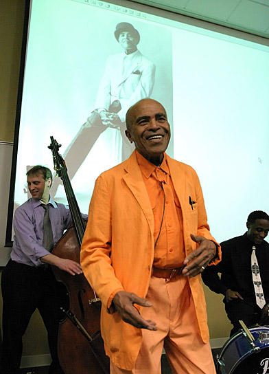 UT music students have the chance to learn jazz history from a man who helped shape it: Jon Hendricks.