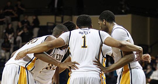 The Rockets huddled during a recent game.