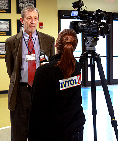 Dr. Roland Skeel, UT professor of medicine, was interviewed by WTOL News 11 after a press conference last week to announce the University and the American Cancer Society are partnering for a research study.