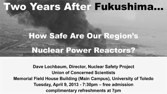 Nuclear safety fukushima flyer
