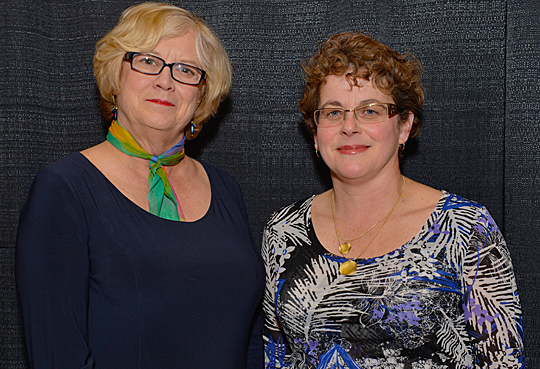 Jennifer Rockwood, left, and Dr. Lynne Hamer received the Edith Rathbun Award for Outreach and Engagement.
