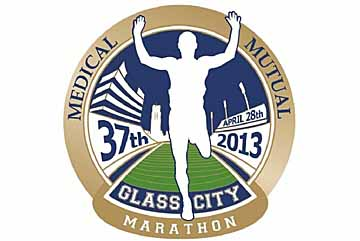 web Glass City Marathon logo
