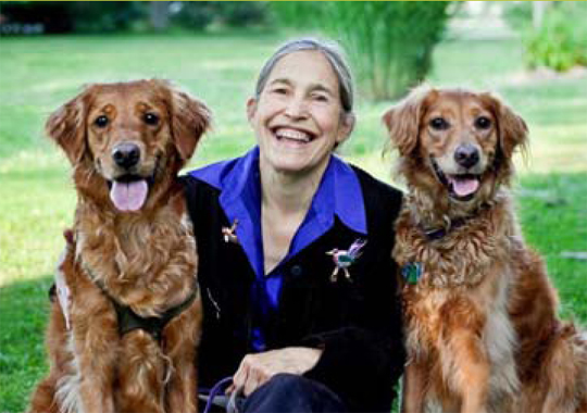 Jane Miller and her dogs
