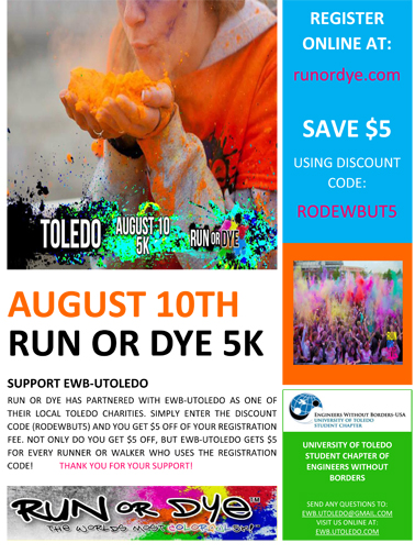 Run or Dye Flyer