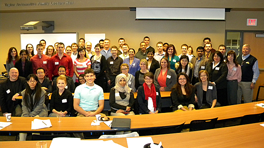Those who attended and a few who helped teach the recent Advanced Leadership Academy posed for a photo.