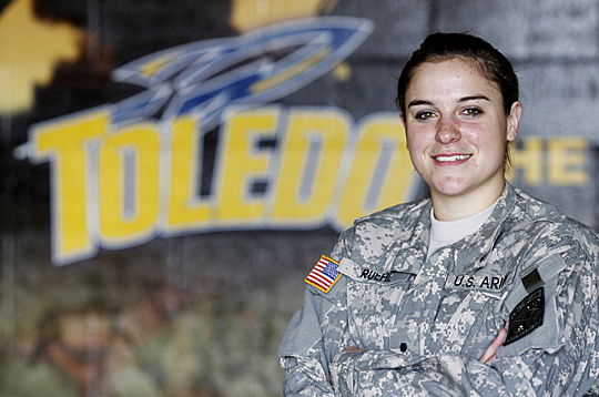 Becca Ruehl, a junior majoring in biology and third-year Army ROTC cadet, will be at the Fall Kickoff Friday, Aug. 16, to talk to students about the opportunities available through the UT Army ROTC Program.