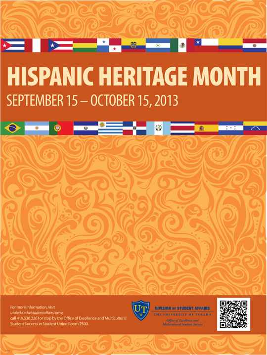 The university of toledo will observe hispanic heritage month sept