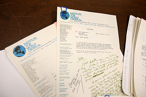 The papers of Betty Reardon, international champion for peace education and a nominee for the 2013 Nobel Peace Prize, are housed in the Ward M. Canaday Center for Special Collections.