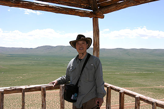 Dr. Jiquan Chen, UT professor of ecology, is studying global warming in the Mongolian Plateau.
