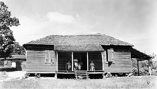 "Aaron Copland was inspired by photos by Walker Evans, like this one titled ""House, Hale County (1935 or 1936),"" to compose the opera, ""The Tender Land."""