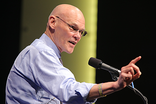 "James Carville lived up to his ""Ragin' Cajun"" moniker during his appearance in the Jesup Scott Honors College Distinguished Lecture Series."