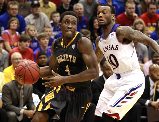 Junior Justin Drummond scored 13 points in the Rockets' 98-83 loss to Kansas.