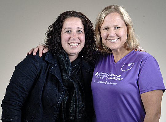 Katie Secory, left, is an honored teammate of Dr. Jennifer Smirnoff, who will run the Rock 'n' Roll Marathon in New Orleans in February as part of Team in Training. Secory, a cancer survivor, is a source of inspiration and strength for Smirnoff.