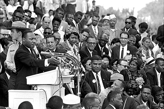 "Dr. Martin Luther King Jr. gave his ""I Have a Dream"" speech Aug. 28, 1963, to more than 250,000 civil rights supporters during the March on Washington."