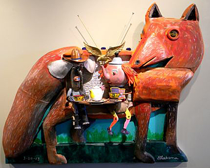 Dewey Blocksma's creations feature recycled materials.