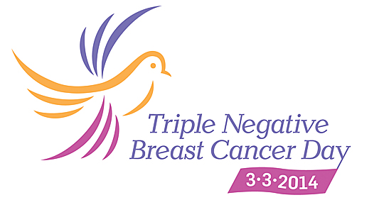 triple negative breast cancer logo with date