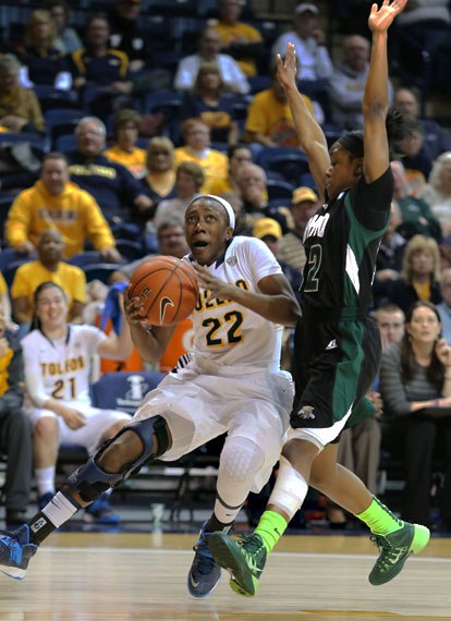 Senior Andola Dortch scored 13 points in Toledo's 61-44 victory over Ohio University.