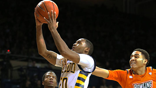 """Junior guard Julius """"Juice"""" Brown has been named to the Mid-American Conference's first team."""