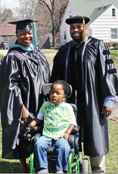 Charisse and Richard Montgomery II posed for a photo with their son, Richie.