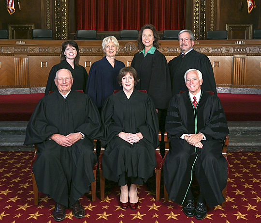 Members of the Ohio Supreme Court posed for a photo.