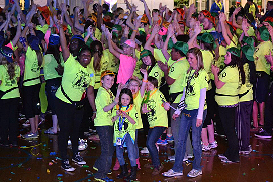 Students vogued for the camera at last year's RockeTHON.