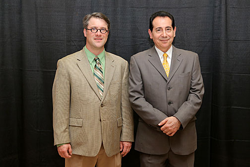 Dr. Todd Crail, left, and Dr. Sonny Ariss received the Edith Rathbun Award for Outreach and Engagement.