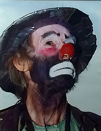 This photo of Emmett Kelly Jr. is one of the pieces up for bid in the silent auction.