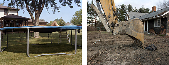 """""""Trampoline-Excavator"""" is part of Eric Zeigler's """"Still Photography"""" exhibition, which is on display this summer in the Center for the Visual Arts Clement Gallery."""