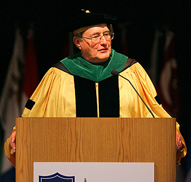 Dr. Lloyd Jacobs at the 2006 investiture ceremony