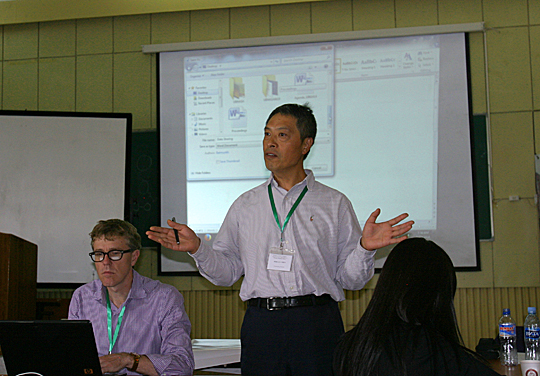 Dr. Jiquan Chen spoke at a workshop on coupled human and natural systems on the Mongolian Plateau.