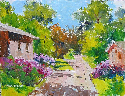 """July 4, Flowers at the Toledo Botanical Garden,"" acrylic, by Dr. Paul Brand"