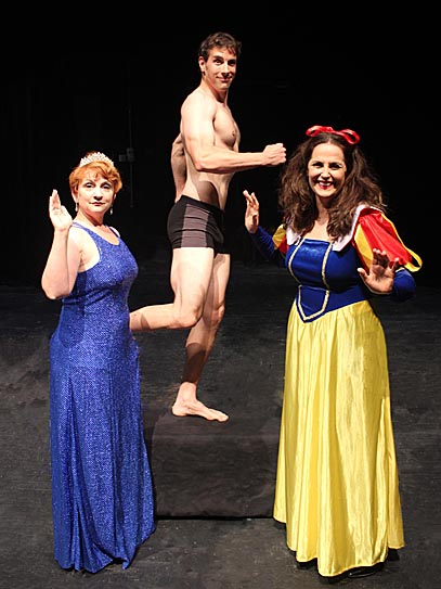"Jennifer Nagy Lake, Jeffrey Burden and Pamela Tomassetti star in the GlacityTheatre Collective's production of ""Vanya and Sonia and Masha and Spike."""